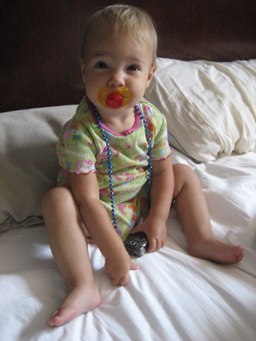 I don\'t normally use a pacifier, but it looks good with my necklace.